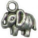 6 Antique Silver Elephant Charms - Elephants