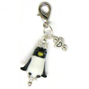 Handmade Penguin Zipper Pull