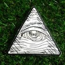 Eye Of Providence Illuminati Iron On Patch.