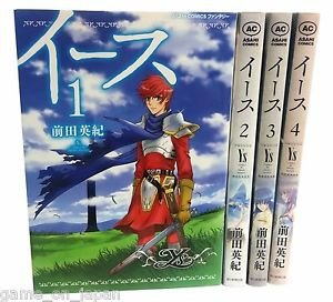 Ys Game Manga Rare Japanese Complete Set 4 Books Hirakana Kanji Import Used
