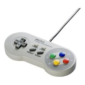 SNES Pad Super Nintendo Super Famicon Gamepad USB Controller PC Windows BUFFALO