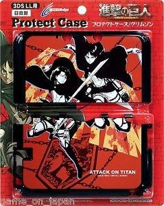 Attack On Titan Shingeki no Kyojin Nintendo 3DS LL XL Hard Cover Crimson Japan