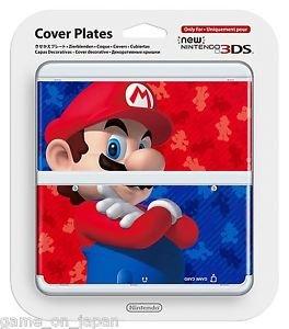 Super Mario Bros New Nintendo 3DS Cover Mario Bros Kisekae Plate Japan Import