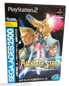 Phantasy Star 1 Sega Ages PS2 Japanese RPG Japan Import Rare Used