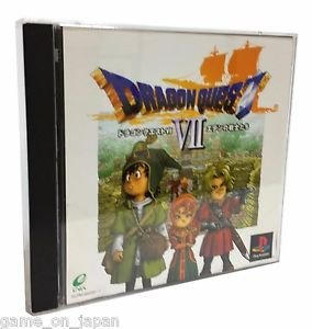 Dragon Quest 7 PS1 DQ VII Japanese RPG Japan Import  Used