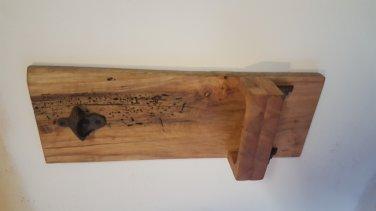 Gum wood wall mounted bottle opener