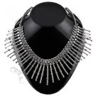 Oxidised White Metal Handcrafted Indian Ethnic Women Gypsy Necklace Jewelry 04