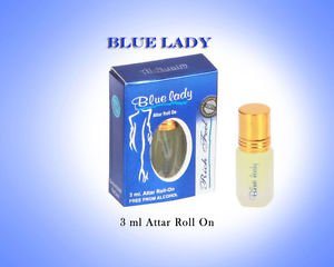 Al Nuaim Blue Lady 3ml Attar Perfume Oil Alcohol Free Natural by Ambrosial