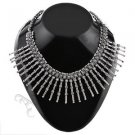 Oxidised White Metal Handcrafted Indian Ethnic Women Gypsy Necklace(AMB-CHOK-01)