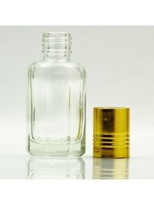 2 X 6ml Empty Refillable Roll On Bottles Empty Glass For Perfume Oil Itr Attar