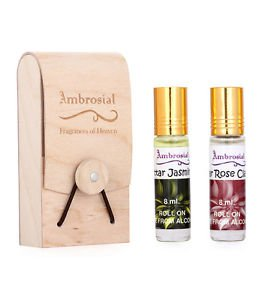 Ambrosial Gift Set 8ml-2 Attar Rose Jasmine 100% Natural Pure Concentrate
