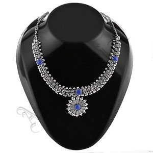 Oxidised White Metal Handcrafted Indian Ethnic Women Gypsy Necklace Jewelry 20