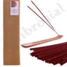 Ambrosial 100 Incense Sticks with Wooden Holder Organic Charcoal Free Handmade