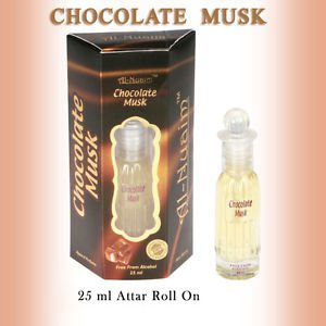 Al Nuaim Chocolate Musk 25ml Attar Perfume Oil Alcohol Free Natural by Ambrosial
