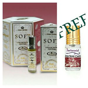 Al Rehab Soft Unisex Oriental Attar Concentrated Arabian Perfume Oil 6ml X 6PCS