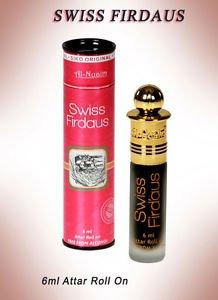Al Nuaim Swiss Firdaus 6ml Attar Perfume Oil Alcohol Free Natural by Ambrosial