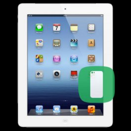 (WH) iPad 3 Back Housing Replacement - WHITE