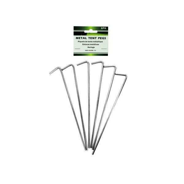 """Set of 18 Metal 7"""" Tent Pegs Stakes"""
