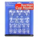 Suction Cup Hooks Set - 17 Pcs, 3 Sizes