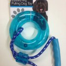Squeaky Ring Pulling Dog Toy with Handle