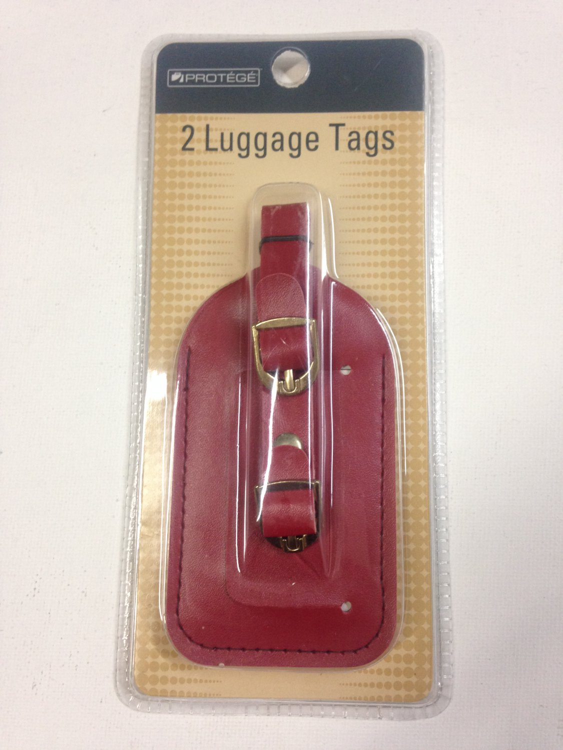 Set of 2 Vinyl Luggage Travel Tags