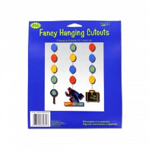 Top Secret Agent Fancy Hanging Party Cutouts