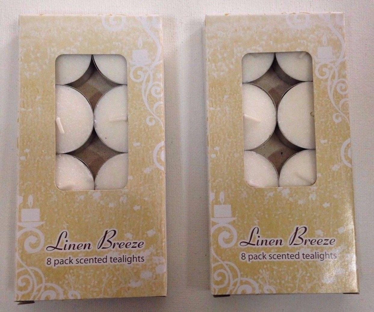 16-Pack Linen Breeze Scented Tea Lights Candles