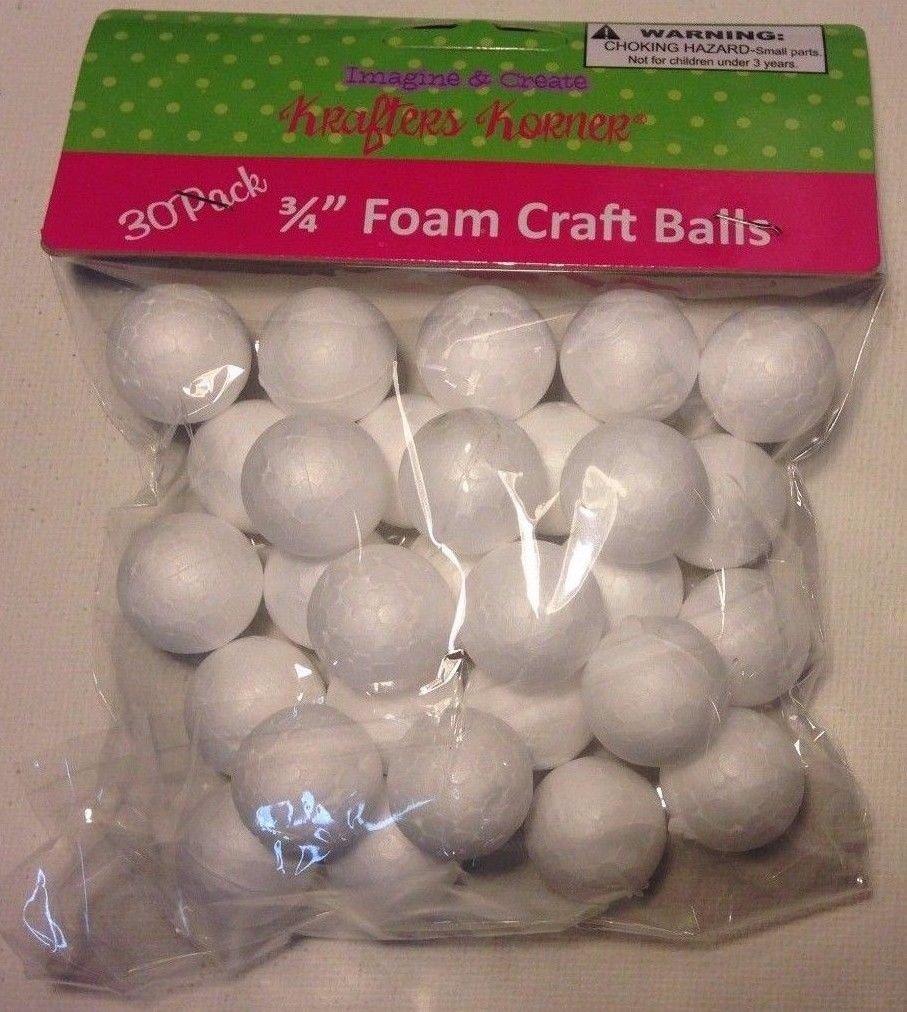 """Foam Kraft Balls - 30 Pack 3/4"""" Balls"""
