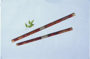 JY-107-Special II Professional White Bamboo Flute W/T Two Copper Joints