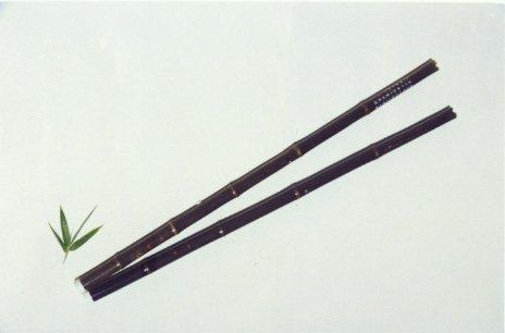 JY-200-Normal Black Bamboo Vertical Flute