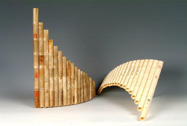 JY-416-Imitate Ivory Bone Pan Flute