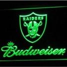 Oakland Raiders Budweiser LED Neon Sign Light NFL Football Sports Team Green
