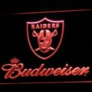Oakland Raiders Budweiser LED Neon Sign Light NFL Football Sports Team Red