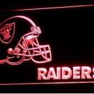 Oakland Raiders Helmet LED Neon Sign Light NFL Football Sports Team Red