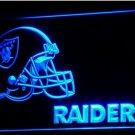 Oakland Raiders Helmet LED Neon Sign Light NFL Football Sports Team Blue