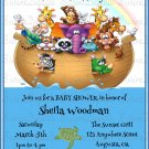 Noah's Ark Baby Shower Invitation/ Biblical Story Themed Baby Shower Invitation