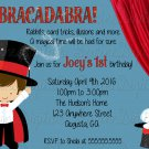 Little Magician Birthday Party Invitation/ Magic Show Themed Party invite