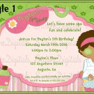 Spa Day themed Girls Birthday party/Let'sdo a make over birthday party invitation