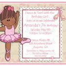 Little Ballerina Birthday Party Invitation/ Let's Twirl Let's Dance Party Invite