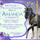 Carousel Horse Birthday Party Invitation/ Carousel Themed Party Invitation
