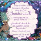 Enchanted Under the Sea mermaid Adventure Birthday party invitation