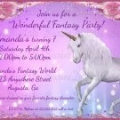 Unicorn themed Birthday Party Invitation/ Fantasy Themed Party invite