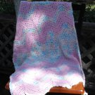 Light Pink Handmade Crochet Baby Girl Car Seat Blanket/ Baby Shower Gift for Baby Girl