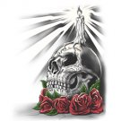 Skeleton and Roses Tee Shirt