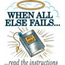 When All Else Fails Read The Instructions Tee Shirt