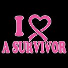 I Love A Survivor Breast Cancer Awareness Tee Shirt