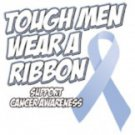 Tough Men Wear A Ribbon Support Cancer Awareness Tee Shirt