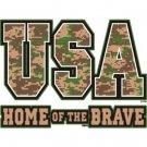 USA Home Of The Brave Tee Shirt