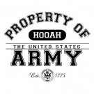 Hooah Property Of The United States Army Tee Shirt