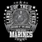 Land Of The Free Because Of The Brave Marines Tee Shirt